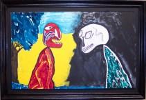 Maximilian Meets Mr. Death~ Acrylic on Board~21X1X15