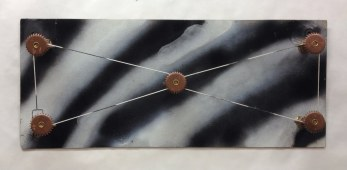 String Theory~Found Objects,Paint~24X3X10