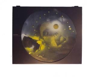 #9 Dream~Found Objects,Paint~17x1.5x14