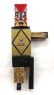 Bodhisattva~Found Objects,Paint~12X1.5X28