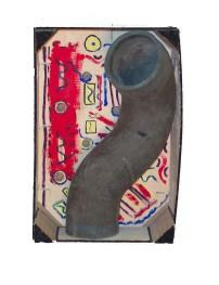 Tubluar Box_Found Objects, Paint_3X4X12