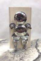 Reflective Figure~Found Objects~4X4X7