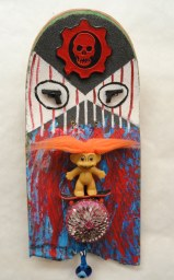 35th St. Demon~Found Objects,Paint~8X2X18