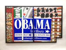 Obama 2004~Found Objects,Paint~35X1X22
