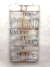 Placard Side 1~Found Wood, Paint~10X1X20