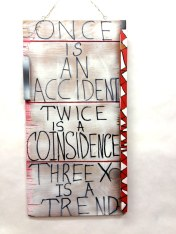 Placard Side 2~Found Wood, Paint~10X1X20