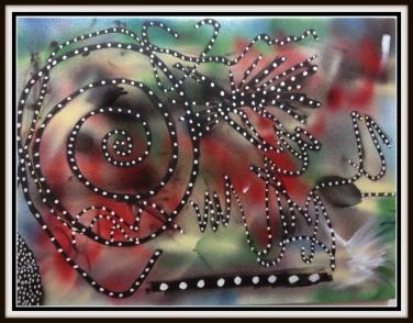 Lizard Brain~Acrylic on Canvas~24X18