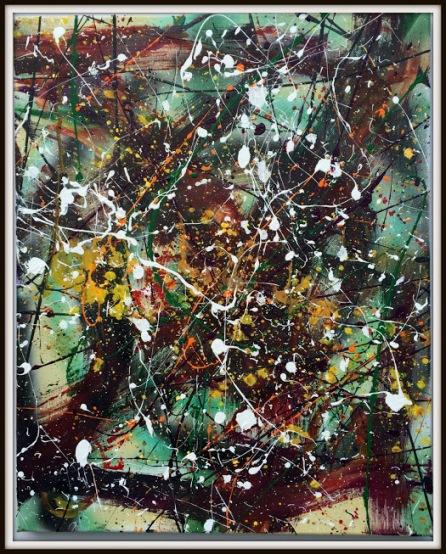Abstract Friday~Mixed Media on Canvas~16X20
