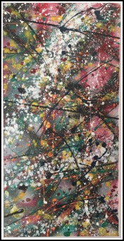 Abstract Saturday~Mixed Media on Canvas~10X20