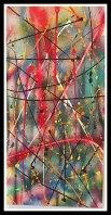 Abstract Sunday-Mixed Media on Canvas~15X30