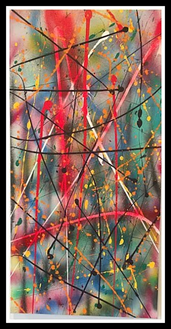 Abstract Sunday-Mixed Media on Canvas~15X30
