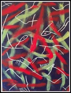 Epididiymtis~Acrylic on Canvas~18Wx24H