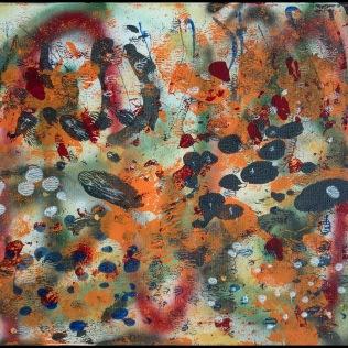 Sargasso Sea II~Mixed Media on Canvas~18Lx24H
