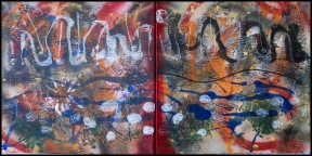Sargasso Sea I~Mixed Media on Canvas~12Lx24H