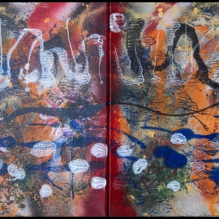 Sargasso Sea I~Mixed Media on Canvas~12Lx24H