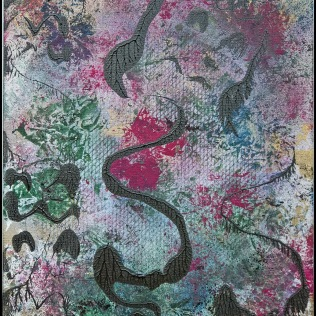 Sargasso Sea IV~Mixed Media on Canvas~16Lx20H