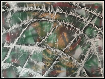 Shingles~Mixed Media on Canvas~18Hx24L