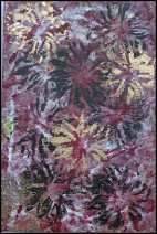Small Chrysanthemum ~Mixed Media on Canvas~8Lx12H
