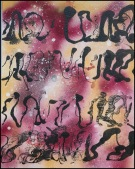 Automatic Writing~Mixed Media on Canvas~20X16