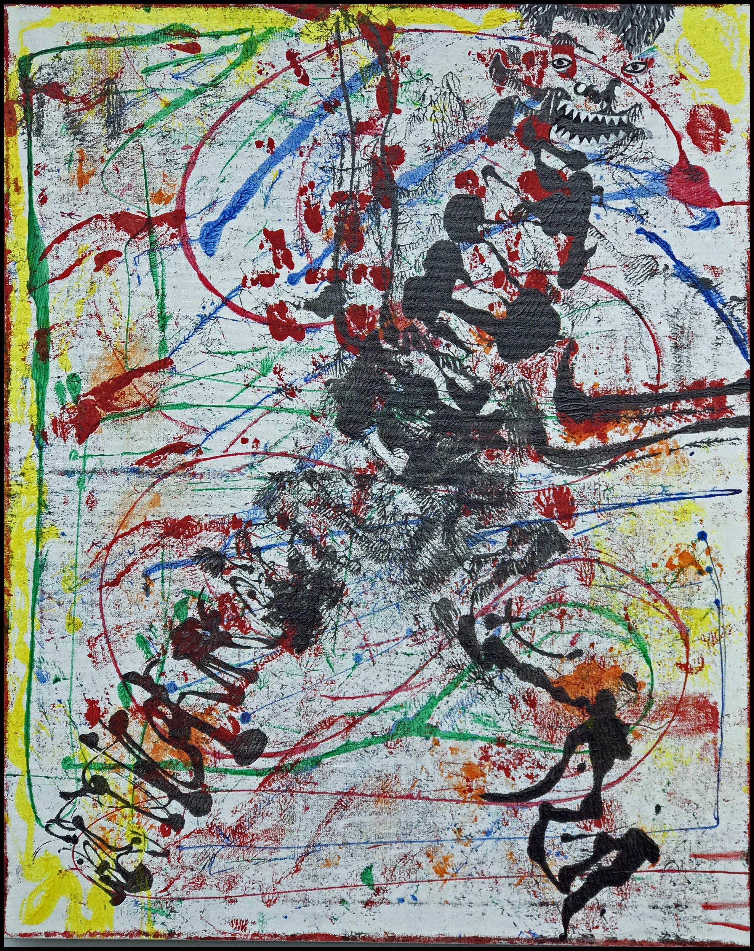 Umberto~Mixed media on canvas~30 x 24