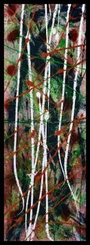 Ah-Leu-Cha I~Mixed Media on Canvas~12x36