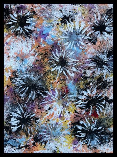 Chrysanthemun IX~Mixed Media on Canvas~12x16