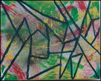 Small Mosaic_Mixed Media on Canvas_10Lx8H