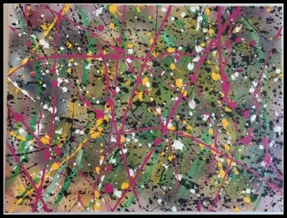 Abstract Monday~Mixed Media on Canvas~ 18x24
