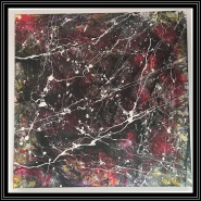 Abstract Thursday~Mixed Media on Canvas~20x20