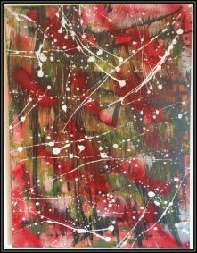Abstract Wednesday~Mixed Media on Canvas~16x20