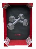 Bar Bells~Mixed Media 7.5x3.5x11.5