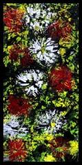 Chrysanthemum IX~Mixed Media on Canvas~10x20