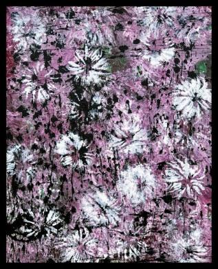 Chrysanthemum V~Mixed Media on Canvas~16x20