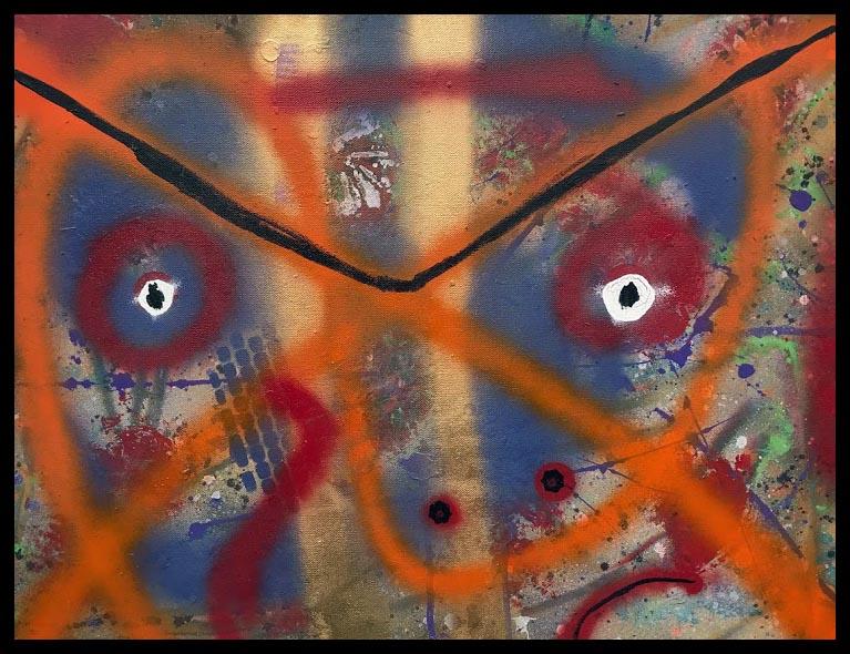Graffiti Face~Mixed Media on Canvas~18x24