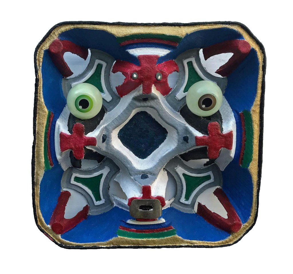 Material Form Mask~Mixed Media~8.5x8.5x2